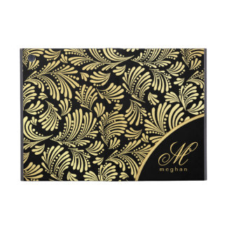 Black Gold Monogram Folio iPad Mini Cover For iPad Mini
