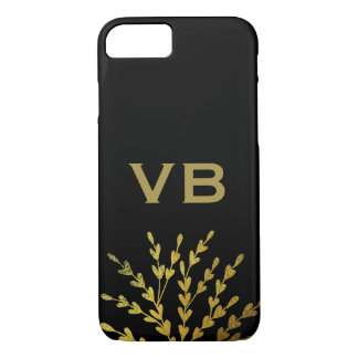 Black Gold Monogram iPhone 8/7 Case