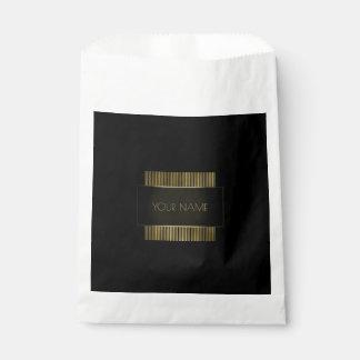 Black Gold Name Branding Minimal Conceptual Favour Bags
