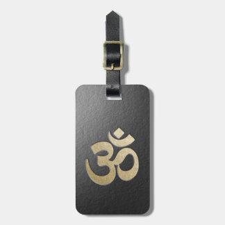 Black & Gold OM Symbol YOGA Meditation Instructor Luggage Tag