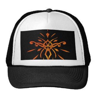 Black Gold Orange Starburst Dramatic Design Cap