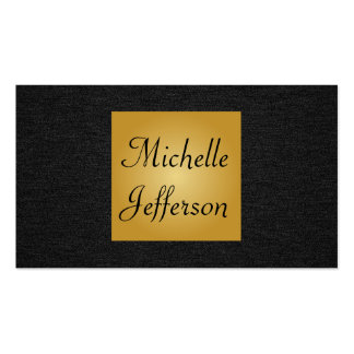 Black | Gold Pack Of Standard Business Cards
