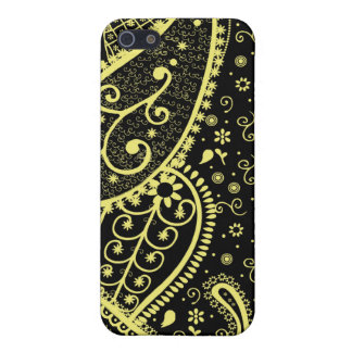 Black & Gold Paisley Speck iphone Case iPhone 5 Covers