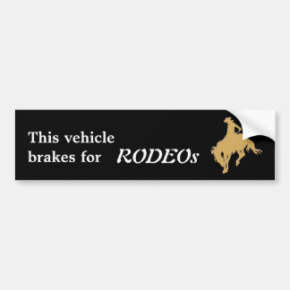 Black Gold Rodeo Bucking Horse Bumper Sticker