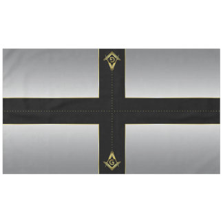Black Gold Silver Masonic Tablecloth & Decorations