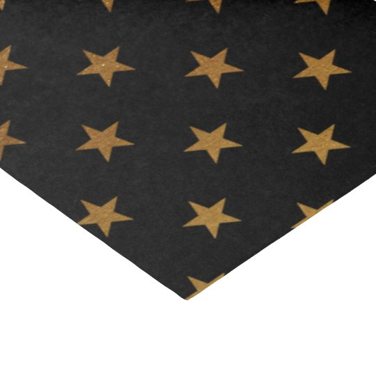 black gold star pattern party tissue paper