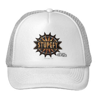 Black & Gold Stupefy Spell Graphic Cap