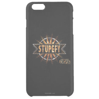 Black & Gold Stupefy Spell Graphic Clear iPhone 6 Plus Case