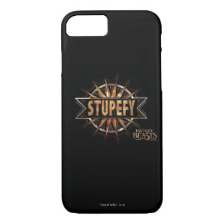 Black & Gold Stupefy Spell Graphic iPhone 8/7 Case