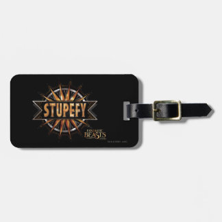 Black & Gold Stupefy Spell Graphic Luggage Tag