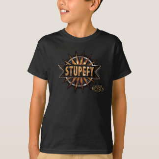 Black & Gold Stupefy Spell Graphic T-Shirt