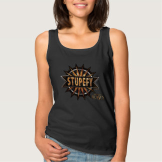 Black & Gold Stupefy Spell Graphic Tank Top