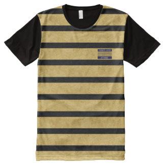 Black Gold Texture Modern Name Brand Men Shirt