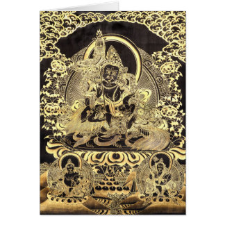 Black & Gold Tibetan Buddhist Art Card