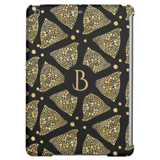 Black & Gold Triangles Modern Pattern