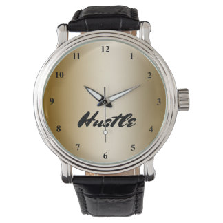 Black Gold Typography Script | Hustle Success Wristwatches
