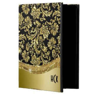 Black & Gold Vintage Floral Damasks Powis iPad Air 2 Case