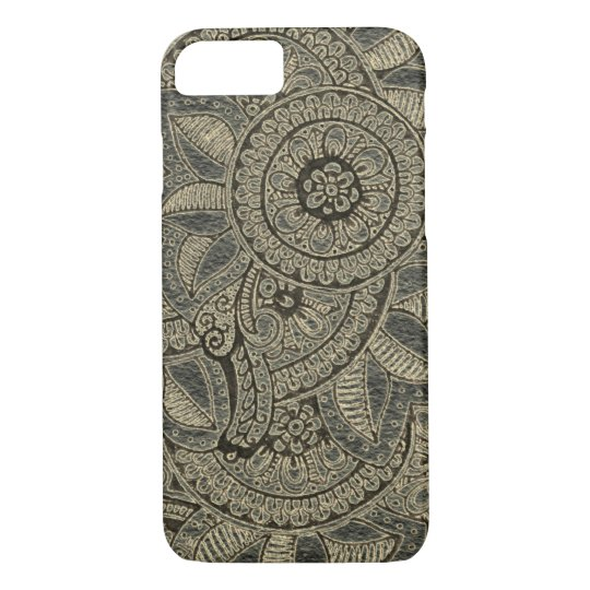 Black Gold Vintage Lace Boho Mandala Dreamcatcher iPhone