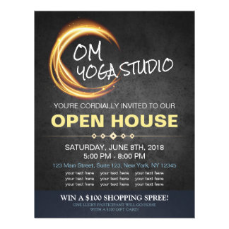 Black Gold YOGA Massage Therapy Studio Open House Flyer