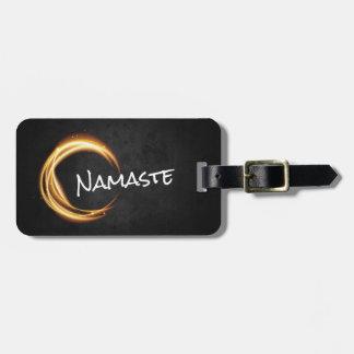 Black & Gold YOGA Studio Massage Therapy ZEN Sign Luggage Tag