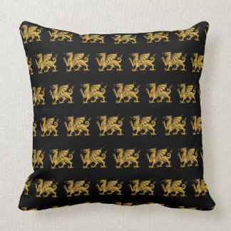 Black Golden Dragon Cushion