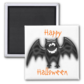 Black Goofy Bat, Happy, Halloween magnet
