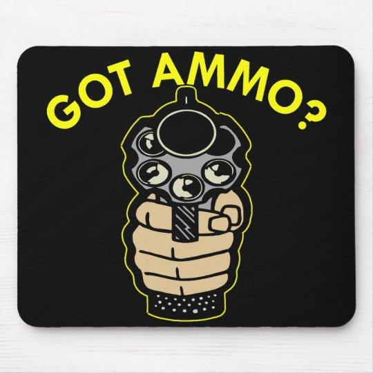 Black Got Ammo Pistol Mouse Mat