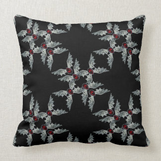 Black Gothic Blood Stone Bat Wings Throw Pillow 2
