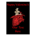 Black gothic  heart valentines day greeting card