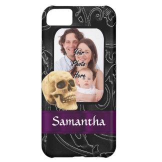 Black Gothic skull iPhone 5C Case