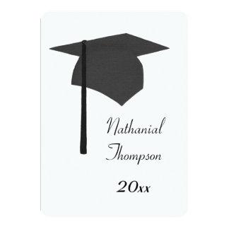 Black Graduation Cap and Tassel Invitations