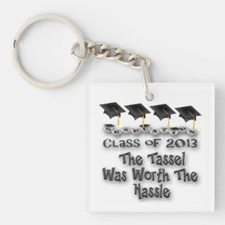 Black Graduation Caps Key Chains