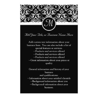 Black Grand Insignia Monogram flyer, program 14 Cm X 21.5 Cm Flyer