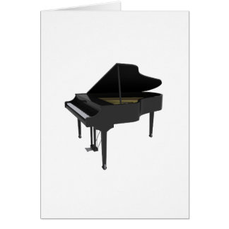 Black Grand Piano: 3D Model: Card