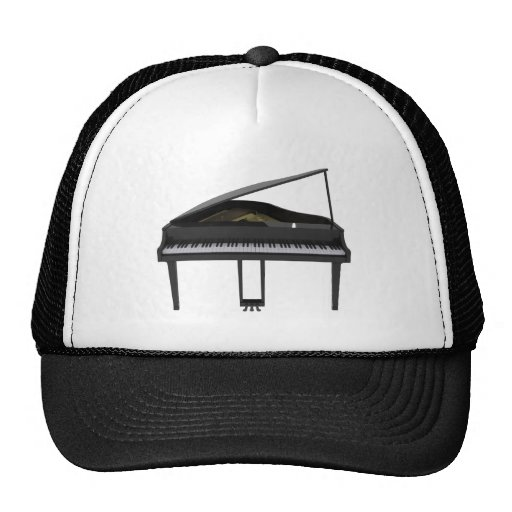 Black Grand Piano: 3D Model: Hat