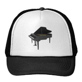 Black Grand Piano 3D Model Hats