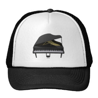 Black Grand Piano 3D Model Trucker Hat