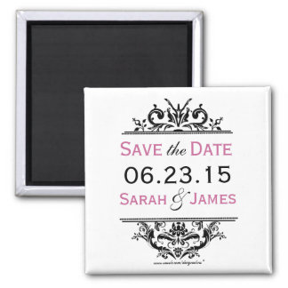Black & Grape Save the Date Magnet
