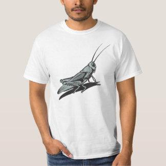 Black Grasshopper  Etching Drawing T Shirt