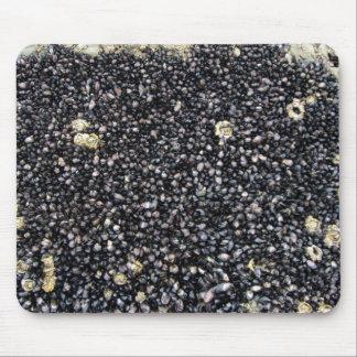 Black Gravel Background Detail Mouse Pads