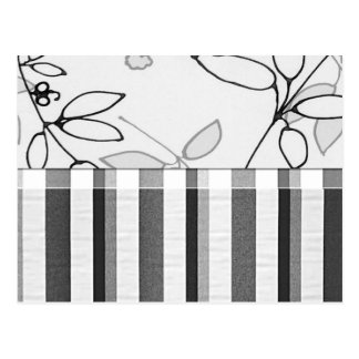 Black, Gray and White Floral (2) Postcard