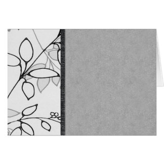 Black, Gray and White Floral Greeting Card
