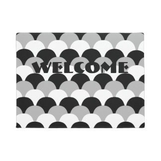 Black, Gray, and White Gumdrops Design Doormat