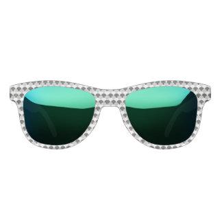 Black, Gray and White Gumdrops Sunglasses