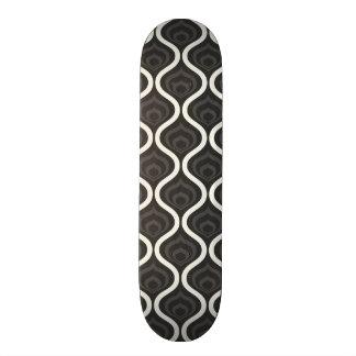 Black Gray and White Retro Pattern Skate Boards