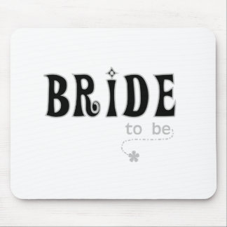 Black/Gray Bride to Be Mouse Pad