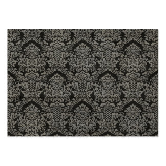Black Gray Damask Pack Of Chubby Business Cards
