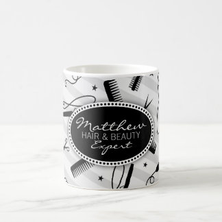 Black & Gray Hair & Beauty Coffee Mug