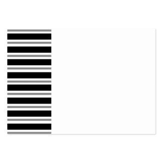 Black Gray Horizontal Stripes Business Card