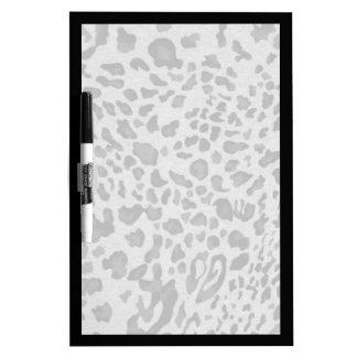 """Black & Gray Leopard"" Dry Erase Board"